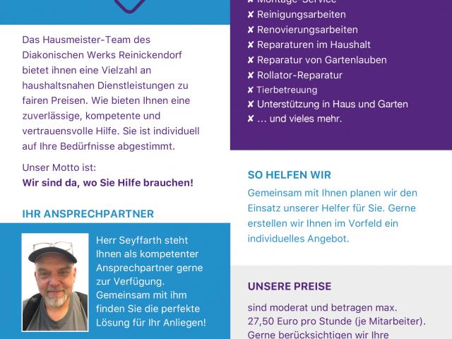 NEU – Hausmeisterservice des Diakonischen Werkes Reinickendorf